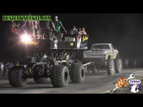 BUGGY VS MEGA TRUCK TUG OF WAR | Slopoke Mud Bog