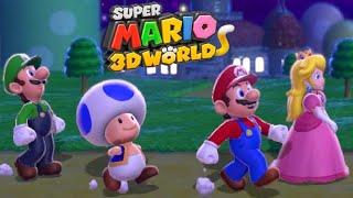 Super Mario 3D World - Full Game Co-op Walkthrough (All Green Stars)