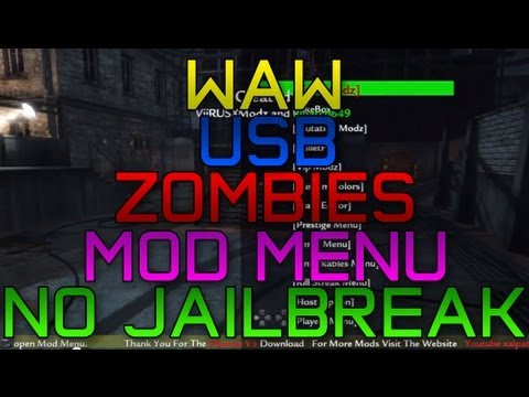 How to get a WAW Zombies Mod Menu! | NO JAILBREAK | USB | *ONLINE*