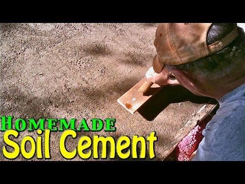 Homemade Soil Cement - Simple & Cheap Home Application