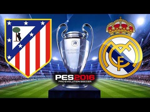PES 2016 - Atlético de Madrid x Real Madrid - Final da UEFA Champions League