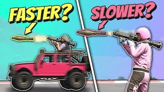 GTA 5 | Is a ROCKET FASTER when Launched from a MOVING CAR?