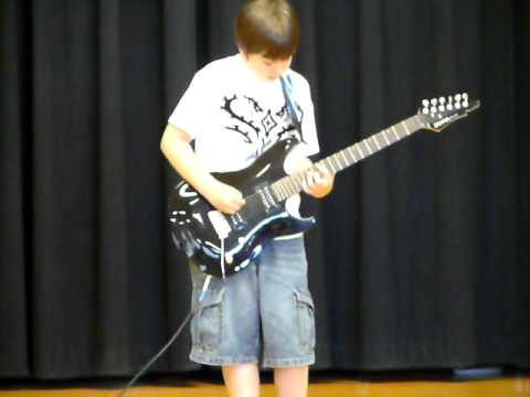 Luke playing Back in Black by ACDC