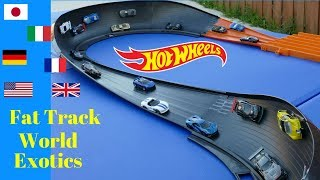 Hot Wheels fat track battle of the countries exotics cars tournament race