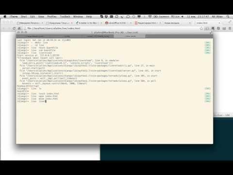 Python LiveReload and Vim