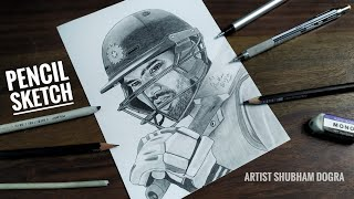 Sketch of Rohit Sharma - Best batsman in ICC Cricket World Cup 2019