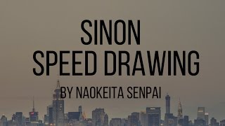 Speed drawing - Asada Shino/Sinon (Sword Art Online II)