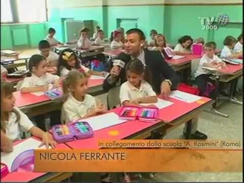Il primo giorno di scuola per i bambini di prima elementare della antonio rosmini di roma - Scuola per piastrellisti ...