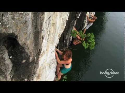 Rock climbing in Halong Bay, Vietnam - Lonely Planet travel video
