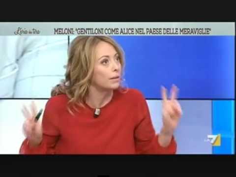 Marò, Meloni: ministro Gentiloni come Alice nel Paese delle meraviglie