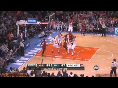 LeBron James Nasty Block on Tyson Chandler [HD] Heat vs Knicks