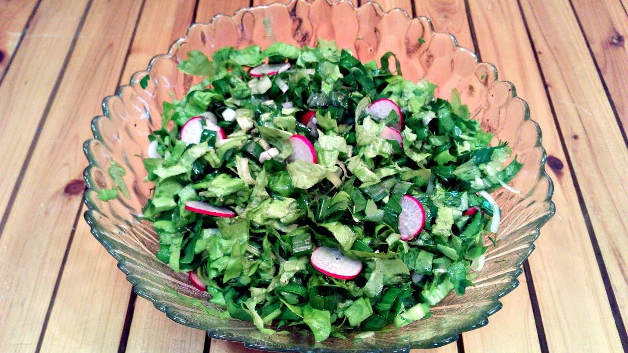 Салат из редиски быстро и просто