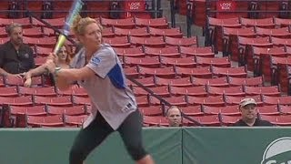 Brooke Baldwin competes in softball game for fallen heroes