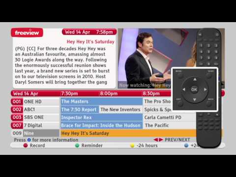 How to Navigate the Freeview EPG