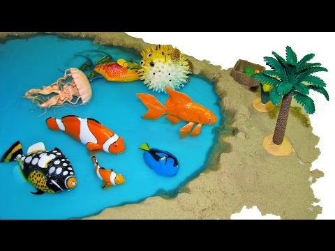 8 Sea Animals Safari Incredible Creatures Marine Animal Toys