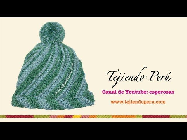 Cómo tejer un gorro odessa a crochet en dos colores