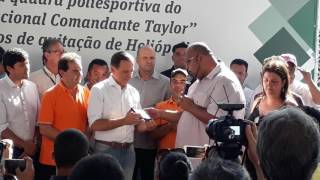 Líder  do MSTI entrega placa para João Doria PSDB prefeito em Heliópolis