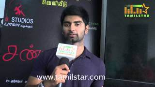 Atharvaa At Chandi Veeran Movie Team Interview