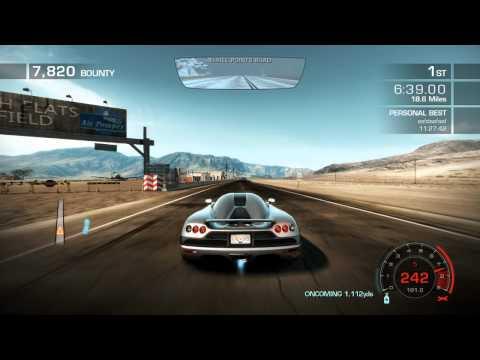 NFS Hot Pursuit 2010 Seacrest Tour World Record   11:22.56 - Koenigsegg CCX - [HD]