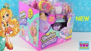 Shopkins Lil Secrets Full Box Opening Lockets Figures Toy Review | PSToyReviews