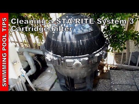 Sta Rite System 3 Filter Cleaning Youtube