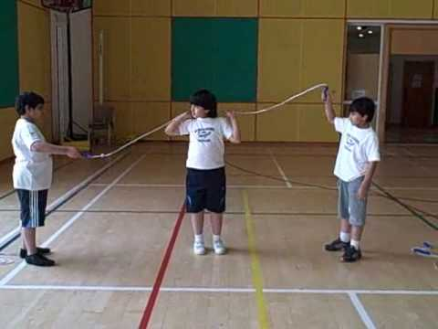 Education Qatar Academy Students Learning Skipping PE Khaled an.wmv