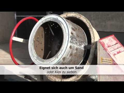 Mutterboden Sieben-Sand-Kies-selber Bauen-Waschmaschinentrommel-Trommelsiebanlage