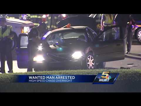 Wanted man arrested after overnight police chase