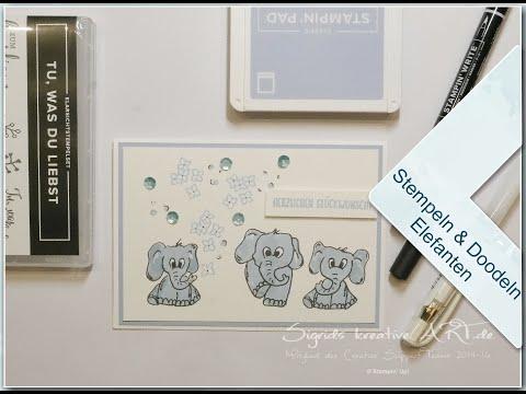 Kreative Auszeit mit Sigrid - Elefant doodeln mit Tu, was du liebst