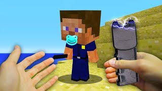 REALISTIC MINECRAFT - BABY STEVE BECOMES A COP!