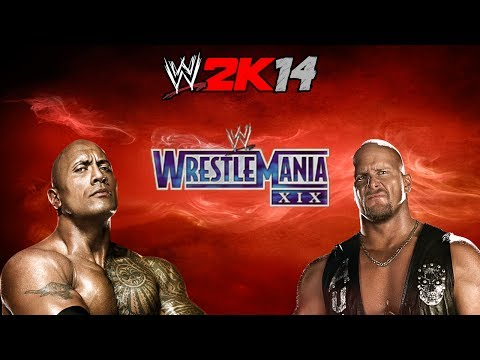 Wwe 2k14- The Rock Vs Stone Cold (wrestlemania Xix)- 30 Years Of Wrestlemania Playthrough video