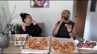 NEW HUSBAND AND WIFE Q + A // FIRST MUKBANG