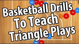 Top 3 Triangle Basketball Drills To Teach The Triangle Basketball Offense