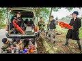LTT Nerf War : Police Patrol SEAL X Warriors Nerf Guns Fight Criminal Group Dr Lee Hitman