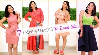 7 Life Saving FASHION HACKS to Look SLIM & Hide BELLY FAT | #Beauty #Fun #Anaysa