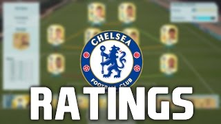 FIFA 16: ALL OFFICIAL CHELSEA PLAYER RATINGS!!