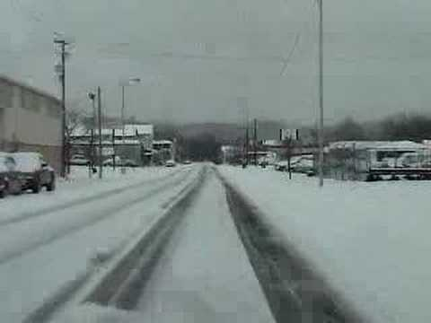2nd Street Portsmouth  Ohio snow 3 8 08