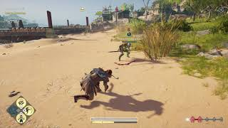 Assassin's Creed Odyssey Use Nikolao Sword and Spartan Kick Defeat Pittakos the Lucky Drunk bracers