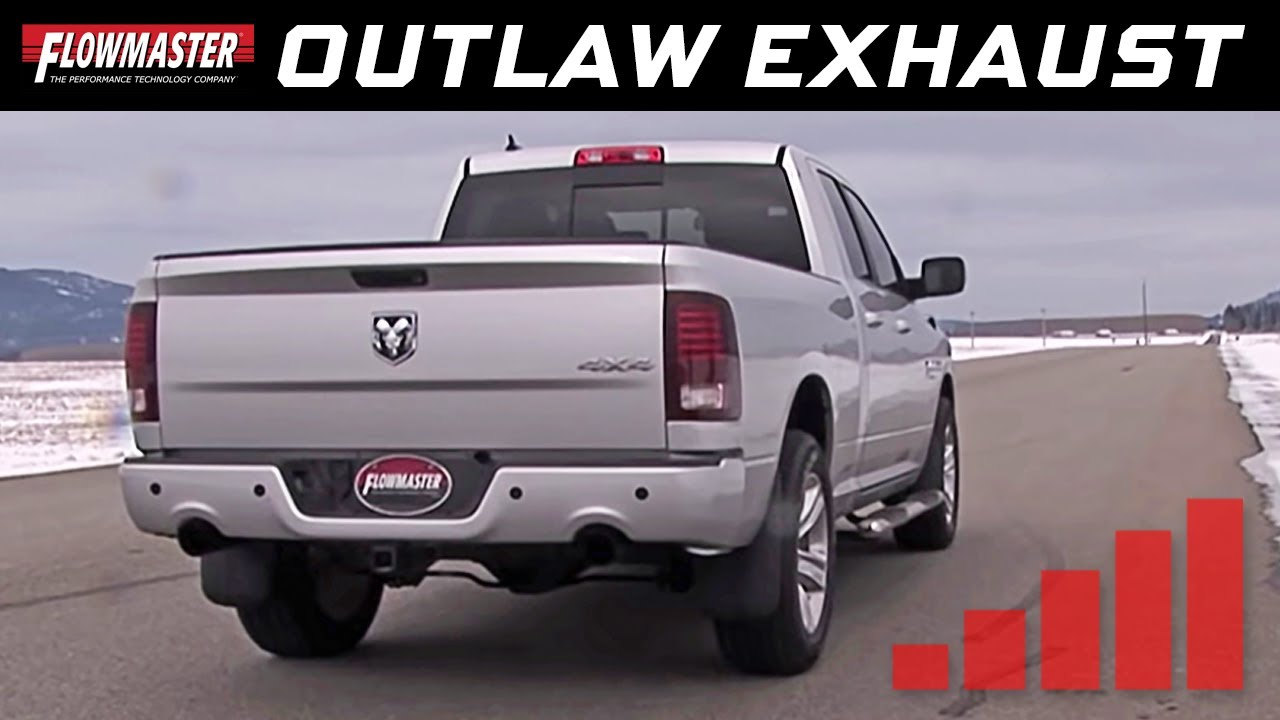 Flowmaster S Outlaw Series Cat Back System 2009 2015 Ram