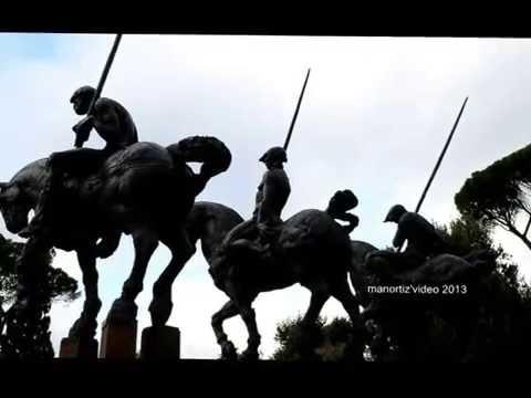 Caballos y jinetes de Javier Marín en la terraza del Pincio de Roma (manortiz)