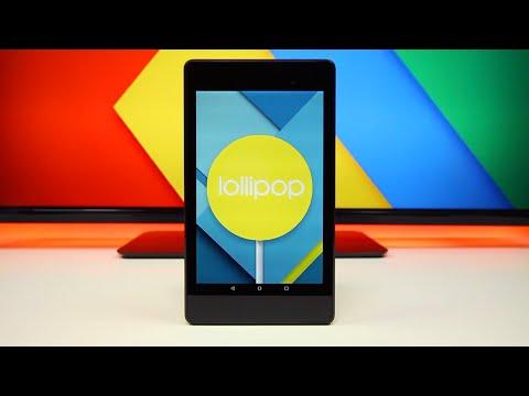 Android 5.0 Lollipop on Nexus 7
