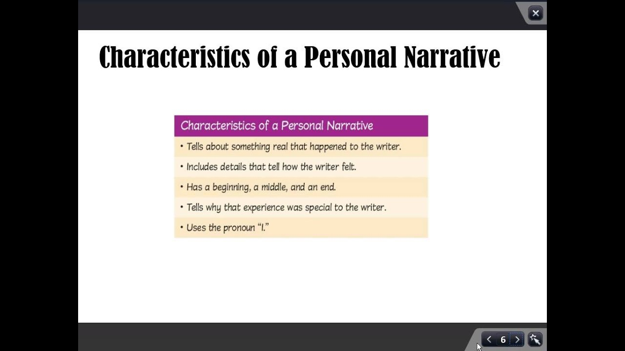 characteristics of narrative essay