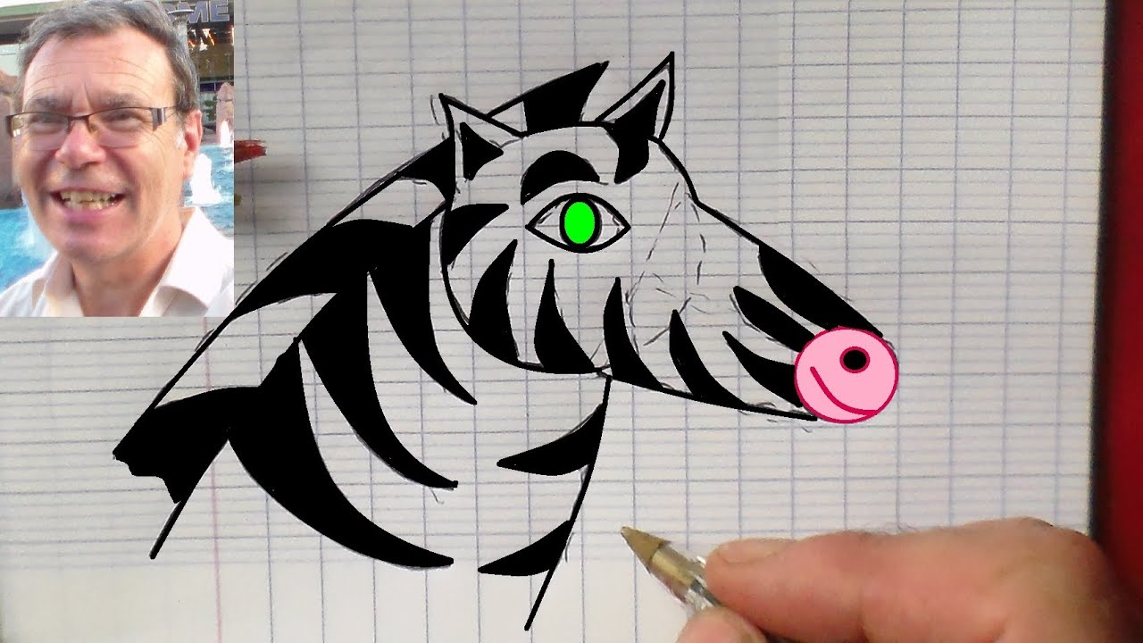 Dessiner un z bre activit ludique de dessin facile faire youtube - Dessin zebre facile ...