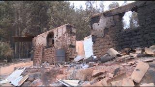 42 casas destruidas por incendios en Nacimiento