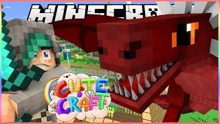 FIGHTING A DRAGON! - CuteCraft Minecraft SMP - Ep.6