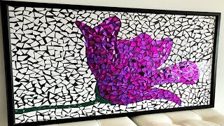 DIY Paper Mosaic Wall Art - Home Decor Ideas