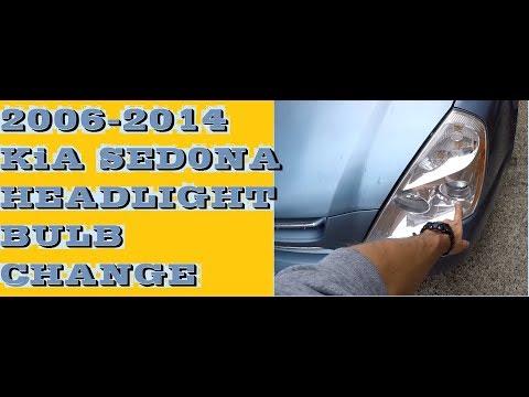 How To Change Replace Headlight Bulbs In 2006-2014 Kia Sedona / Carnival Aka Hyundai Entourage