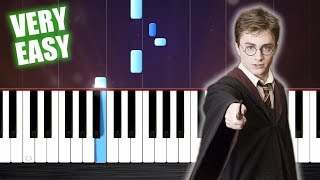 Harry Potter Theme - Piano Tutorial but it's TOO EASY (almost everybody can play it)