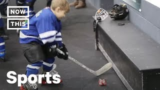 Hockey Dad Who Mic'd Up 4 Year Old Tells All | NowThis