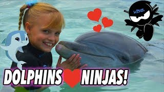 We Played and Swam with Dolphins (Bahamas) II Ninja Kidz TV